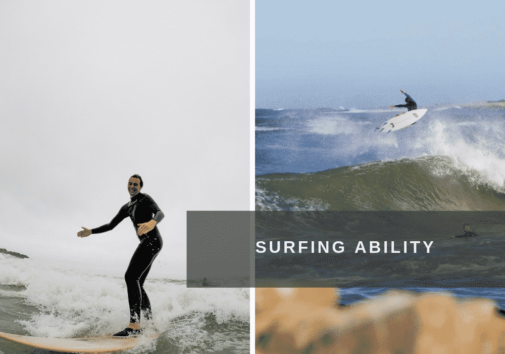 Beginner and advanced surfers in South Africa.