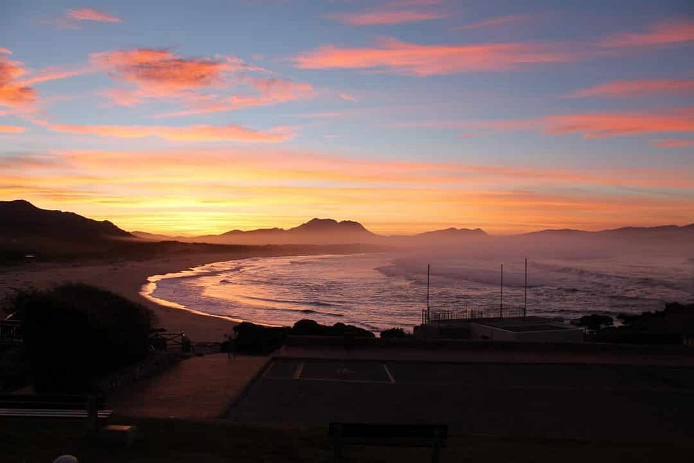 Beautiful sunset on couples holiday in South Africa.
