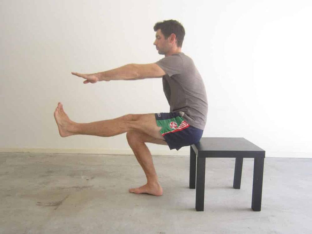 Surf workout Single Leg Squat Image Credit GAA Training